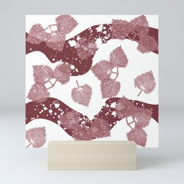 Mint leaves pattern Mini Art Print