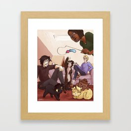 Kitten Attack! Framed Art Print