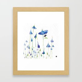 BLUE IS THE RAINIEST COLOR Framed Art Print