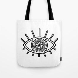 Mandala Evil Eye Tote Bag
