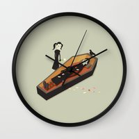 death Wall Clocks featuring Death by Irene Chan