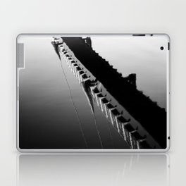 River Reflection of the Millennium Bridge, Lancaster Laptop & iPad Skin