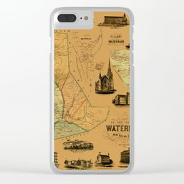 Map Of Waterbury 1852 Clear iPhone Case
