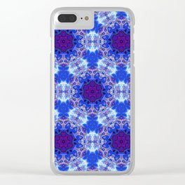 Abstract rippled glossy Clear iPhone Case
