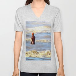 Gormley in a Storm Unisex V-Neck