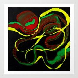 Rasta Colors, Jamaican Inspired Art Art Print