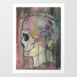 Check My Brain Art Print