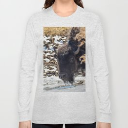 North American Bison by Teresa Thompson Long Sleeve T-shirt