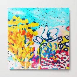 Floral Graffiti #society6 #decor #buyart Metal Print