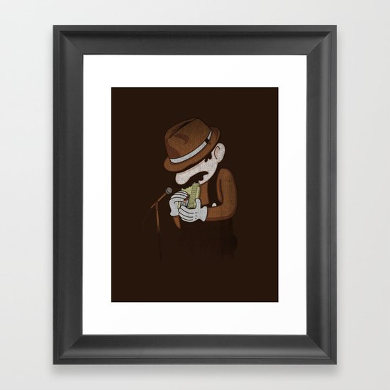 8-bit Blues Framed Art Print