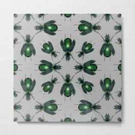 Malachite Beetles Pattern Metal Print