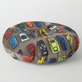 1980's Toy Cars Floor Pillow
