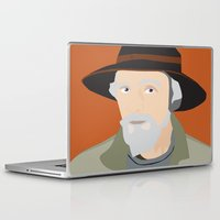 scandinavian Laptop & iPad Skins featuring Scandinavian fisherman by Design4u Studio