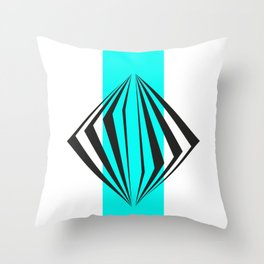 abstract geometric straight lines Throw Pillow