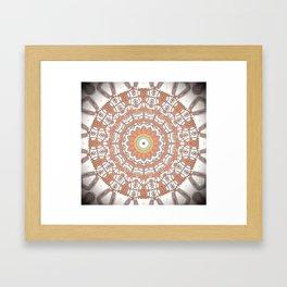 Sun Kissed Apricot Mandala Design Framed Art Print