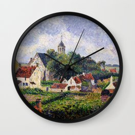The Village Of Knokke - Digital Remastered Edition Wall Clock