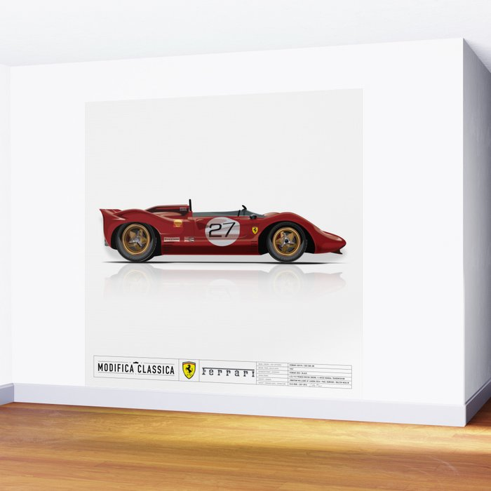 Ferrari 1967 330 P4 350 Can Am Wall Mural by modificaclassica