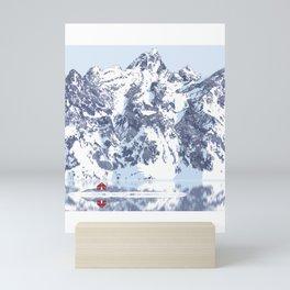 Little Red House Under the Cervino Mini Art Print