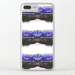 Explosive lines Clear iPhone Case