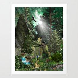 Forest Wisdom Art Print
