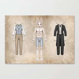 Damien Paper Doll Canvas Print