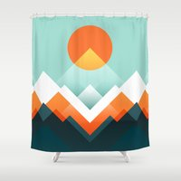 outdoor Shower Curtains featuring Everest by Picomodi