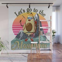 Mountaineering Mountaineer Avocado Hiking Hiker Wall Mural
