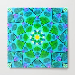 Harmony Fower Mandala Metal Print