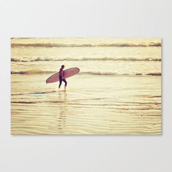 Golden Surf Canvas Print