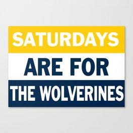 Michigan Saturdays Canvas Print