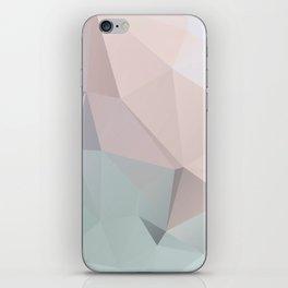 Pastell 2 – modern polygram illustration, wall art print iPhone Skin