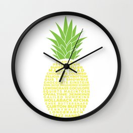 Gus's Nicknames Pineapple Wall Clock