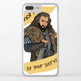 King Dwarf at Your Service Clear iPhone Case