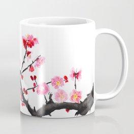 red plum flower Coffee Mug