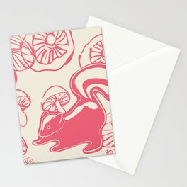 skunk with mushrooms Stationery Cards