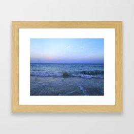 blue horizon Framed Art Print