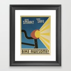 Bike Awesome! Framed Art Print