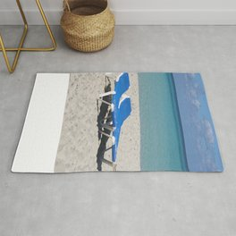 Deck Chairs on Beach Rug