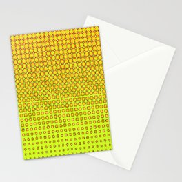 CONTEMPORARY MODERN YELLOW-ORANGE OPTIC Stationery Cards