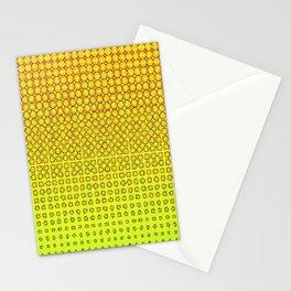 CONTEMPORARY MODERN YELLOW-ORANGE OPTIC Stationery Cards