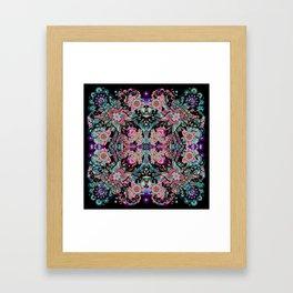Mandala Colorful Boho Framed Art Print