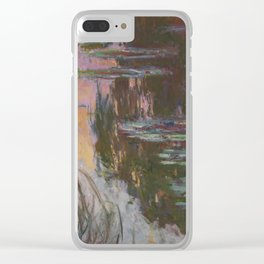 Water-Lilies, Setting Sun by Claude Monet Clear iPhone Case