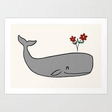 Peace Whale  Art Print