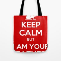keep calm Tote Bags featuring Keep Calm by ubertwigg