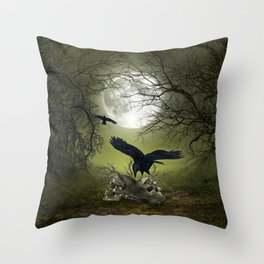 In the dark side Throw Pillow