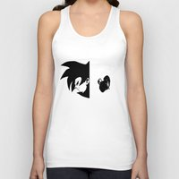 vegeta Tank Tops featuring Goku & Vegeta SS4 Face  by Prince Of Darkness