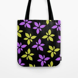 Illustration of flowers(black background) Tote Bag