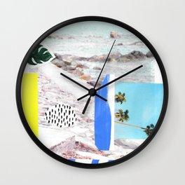Blue Beach Wall Clock