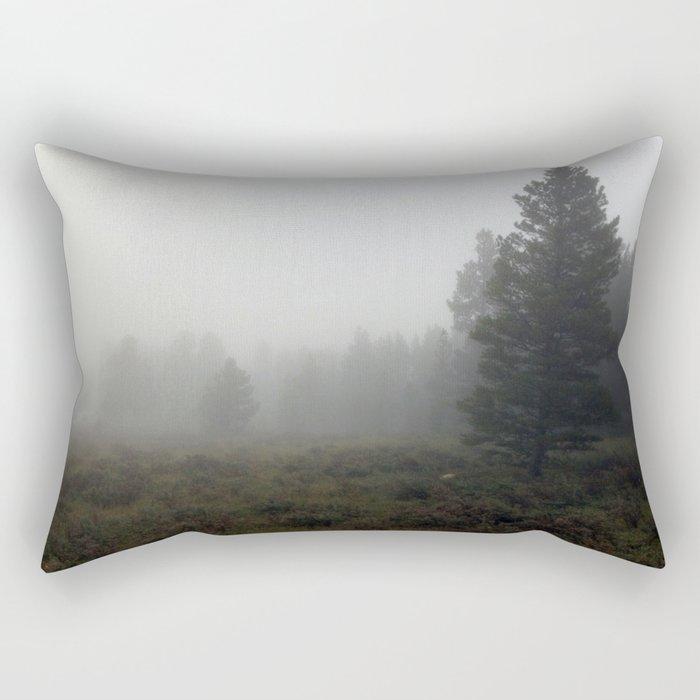Foggy Morning Rectangular Pillow