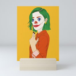 Joker girl - Put on a happy face Mini Art Print